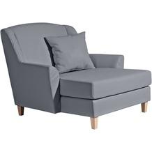 Max Winzer Big-Sessel inkl. 1x Zierkissen 55x55cm Judith Kunstleder grau 136 x 142 x 107