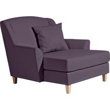 Max Winzer Big-Sessel inkl. 1x Zierkissen 55x55cm Judith Kunstleder violett 136 x 142 x 107