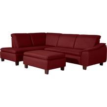 Max Winzer Ecksofa links mit Sofa 2,5-Sitzer rechts Aaron Flachgewebe rot 247 x 187 x 82
