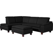 Max Winzer Ecksofa links mit Sofa 2,5-Sitzer rechts Aaron Flachgewebe schwarz 247 x 187 x 82