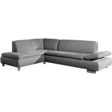 Max Winzer Ecksofa Terrence Grau links mit Sofa 2,5-Sitzer rechts Terrence Flachgewebe grau 270 x 190 x 76