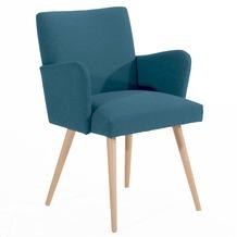 Max Winzer Esszimmersessel blau 60  x  62  x  82