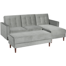 Max Winzer Funktionssofa Easy Relax Anthrazit Easy Relax Velours anthrazit 223 x 152 x 93