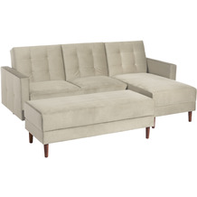 Max Winzer Funktionssofa Easy Relax Beige Easy Relax Velours beige 223 x 152 x 93