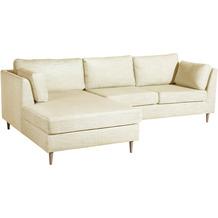 Max Winzer Lonchair Louisiana Beige links mit Sofa 2-Sitzer rechts Louisiana Chenille beige 258 x 158 x 88