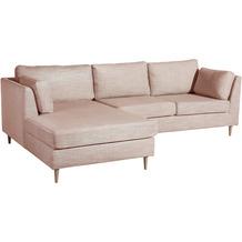 Max Winzer Lonchair Louisiana Rosè links mit Sofa 2-Sitzer rechts Louisiana Chenille rosé 258 x 158 x 88