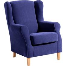 Max Winzer Ohrenbackensessel blau 77 x 86 x 103