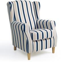 Max Winzer Ohrenbackensessel blau-weiß 77 x 86 x 103