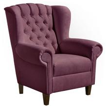Max Winzer Ohrenbackensessel violett 91 x 90 x 101