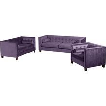 Max Winzer Sessel Jobbia Samtvelours violett 99 x 85 x 74