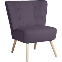 Max Winzer Sessel Neele Kunstleder violett 69 x 68 x 80