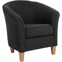 Max Winzer Sessel schwarz, Veloursbezug 70 x 70 x 74