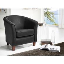 Max Winzer Sessel schwarz, Leder 70 x 70 x 74