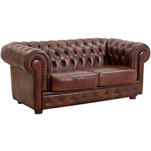 Max Winzer Sofa 2-Sitzer braun Leder hell