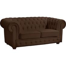 Max Winzer Sofa 2-Sitzer Bridgeport pigmentiertes Nappaleder braun 172 x 98 x 76