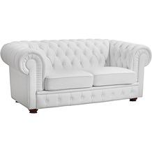 Max Winzer Sofa 2-Sitzer Bridgeport pigmentiertes Nappaleder weiß 172 x 98 x 76