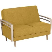 Max Winzer Sofa 2-Sitzer Jooris Microfaser in Filzoptik (Teflon beschichtet) gelb 117 x 82 x 85