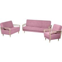 Max Winzer Sofa 2-Sitzer Jooris Microfaser in Filzoptik (Teflon beschichtet) rosé 117 x 82 x 85
