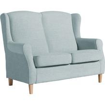 Max Winzer Sofa 2-Sitzer Lorris Chenille eisblau 139 x 86 x 103