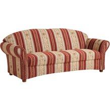 Max Winzer Sofa 2,5-Sitzer Corona Chenille rot 202 x 81 x 85