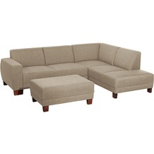 Max Winzer Sofa 2,5-Sitzer links mit Ecksofa rechts Blackpool Flachgewebe (Leinenoptik) sahara 248 x 188 x 75