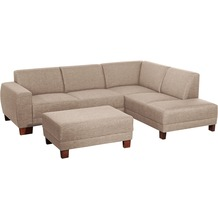 Max Winzer Sofa 2,5-Sitzer links mit Ecksofa rechts Blackpool Flachgewebe (Leinenoptik) sand 248 x 188 x 75