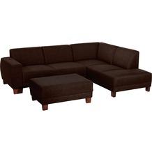 Max Winzer Sofa 2,5-Sitzer links mit Ecksofa rechts Blackpool Flachgewebe (Leinenoptik) schoko 248 x 188 x 75