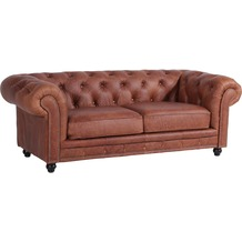 Max Winzer Sofa 2,5-Sitzer Orleans leicht pigmentiertes Nappaleder (Antikleder) cognac 216 x 100 x 77
