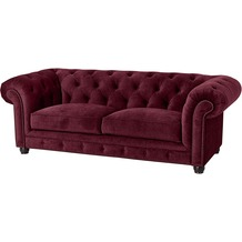 Max Winzer Sofa 2,5-Sitzer Orleans Samtvelours burgund 216 x 100 x 77
