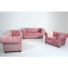 Max Winzer Sofa 2,5-Sitzer Orleans Samtvelours rosé 216 x 100 x 77