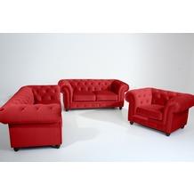 Max Winzer Sofa 2,5-Sitzer Orleans Samtvelours rot 216 x 100 x 77