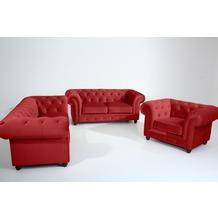 Max Winzer Sofa 2,5-Sitzer Orleans Samtvelours ziegel 216 x 100 x 77