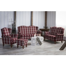Max Winzer Sofa 2,5-Sitzer Verita Flachgewebe rot 193 x 86 x 108