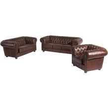Max Winzer Sofa 3-Sitzer / Sofa 2-Sitzer / Sessel Bridgeport Wischleder braun x 98 x 76