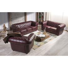 Max Winzer Sofa 3-Sitzer / Sofa 2-Sitzer / Sessel Bridgeport Wischleder rot x 98 x 76
