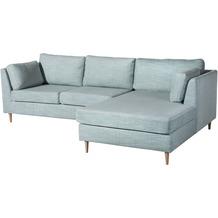 Max Winzer Sofa Louisiana Eisblau 2-Sitzer links mit Longchair rechts Louisiana Chenille eisblau 258 x 158 x 88