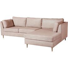 Max Winzer Sofa Louisiana Rosè 2-Sitzer links mit Longchair rechts Louisiana Chenille rosé 258 x 158 x 88