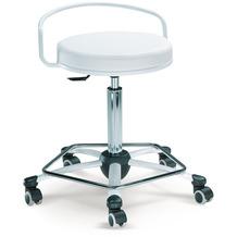 Mayer Sitzmöbel Arbeitsdrehhocker myVITO mit Rückenbügel Kunstleder Weiß