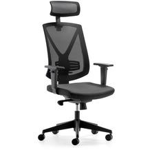 Mayer Sitzmöbel Drehsessel myFUTURIO schwarz mit Kopfstütze Bürostuhl
