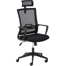 Mayer Sitzmöbel Drehstuhl mySTUDIO mit Kopfstütze schwarz/schwarz Schreibtischstuhl
