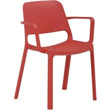 Mayer Sitzmöbel Stapelstuhl myNUKE mit Armlehnen himbeerrot