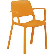 Mayer Sitzmöbel Stapelstuhl myNUKE mit Armlehnen orange