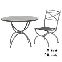 MBM Medici 5er Set aus 4 Stühlen und 1 Tisch