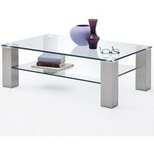 MCA furniture Asta Couchtisch mit Klarglas Platte, 110 cm
