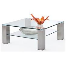 MCA furniture Asta Couchtisch mit Klarglas Platte, 90 cm