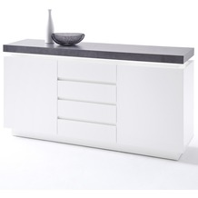 MCA furniture Atlanta Sideboard mit 2 Türen und 4 Schubkästen, weiß
