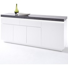 MCA furniture Atlanta Sideboard mit 4 Türen und 2 Schubkästen, weiß
