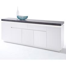 MCA furniture Atlanta Sideboard mit 5 Türen und 2 Schubkästen, weiß