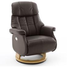 MCA furniture Calgary Comfort elektrisch Relaxsessel mit Fußstütze, braun/natur