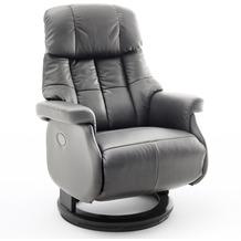 MCA furniture Calgary Comfort elektrisch Relaxsessel mit Fußstütze, braun/schwarz